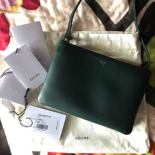 Celine Trio Small 22cm Dark Green