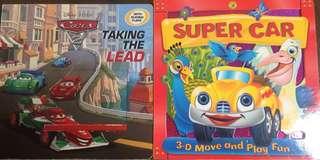3D flap car books (set of 2 hardboard books)