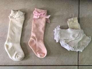 Baby girl knee socks 3 sets