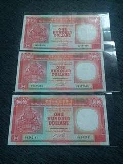 1992滙豐銀行100圓