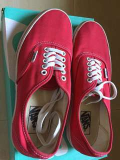 Vans sneakers red