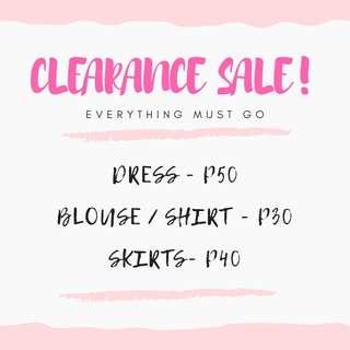 CLEARANCE SALE!