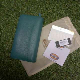 Fossil RFID Caroline BFD Teal Green  Dompet Fossil