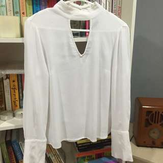 H&m White Choker Top
