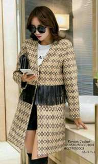 KOREAN JACKET Fits S TO L  Price : 450