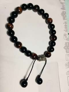 Tiger's eye / black onyx bracelet