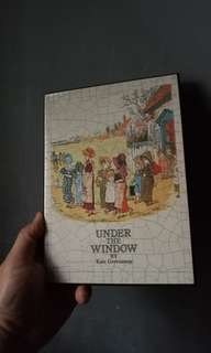under the window book by kate greenaway wall frame