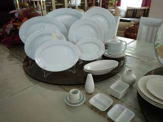 Authentic plate sets , glasses and cutlery set