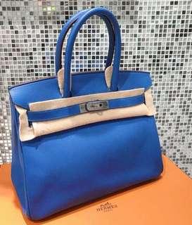 Hermes Birkin 30  7Q 希臘海水藍🌊 EPSOM皮 品相近新的🤟🏻太好看 現貨好價格