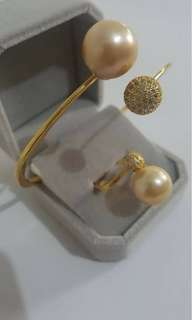 South-sea pearl Ring and Bangle!