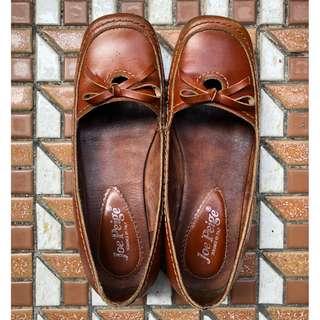 🚚 大地色系真皮皮鞋