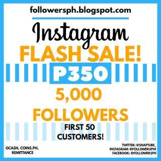 5,000 Followers For Instagram (Cheap Super Sale)