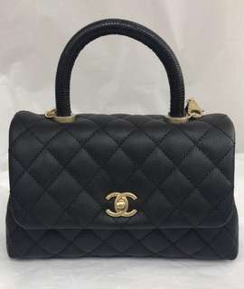 Chanel Coco Handle Lizard handle