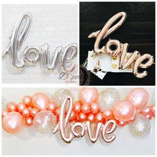 Love Balloon Linked Love Letter Balloon Wedding Anniversary