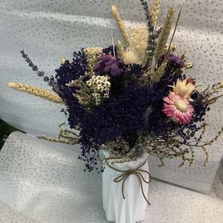 Dried Flowers with vase