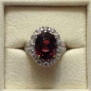 Rhodolite Garnet Ring - 6.8 carats