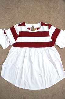 Babydoll stripe blouse