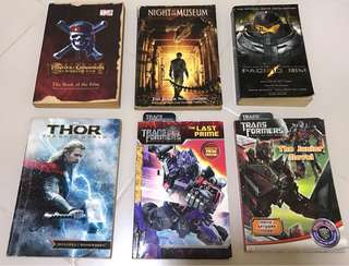Bundle sale: set of 6: pacific rim Transformers night at the museum pirates of the Caribbean Thor