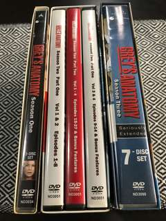 Greys Anatomy Season 1,2,3 DVD sets
