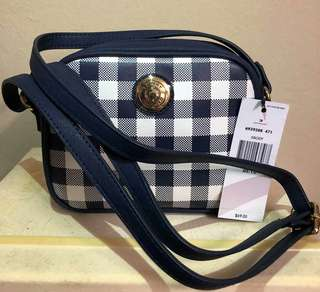 Tommy hilfiger crossbody bag stripe b&w
