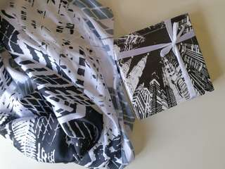 Donutscarves limited edition KLCC historic city in monochrome Square scarf