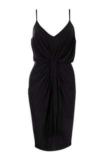 BOOHOO Night black knot dress