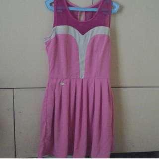 Neon pink Candie's dress