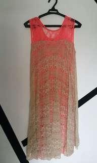 Amir sali Double lace dress