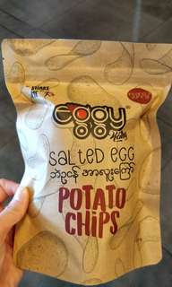 Eggy Salted Egg Potato Chips