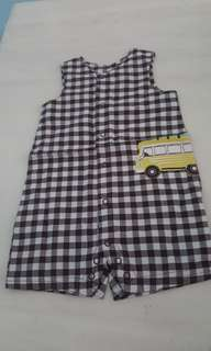 Clearance $2 Carters checkered baby romper