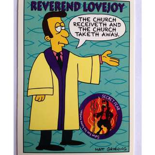 1994 Skybox Simpsons Series 2 - Base Card #S13 - Reverend Lovejoy