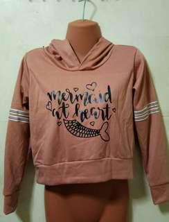 cropped hoodie rust