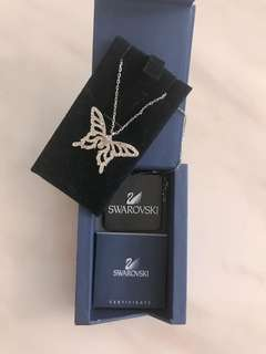 Swarovski 蝴蝶頸鏈