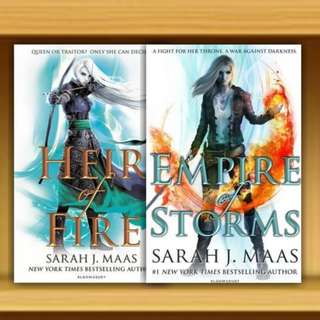 BN - Heir of Fire & Empire of Storms : Throne of Glass By Sarah J. Maas