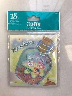 Tokyo Disney Duffy shellimay gelatoni stickers wishing together 十五週年貼紙
