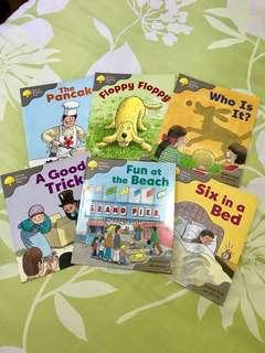 🇬🇧95%新! 牛津大學出版 幼稚園課本 全套6本 Oxford Reading Tree - Stage 1: First Words / A Set of Six
