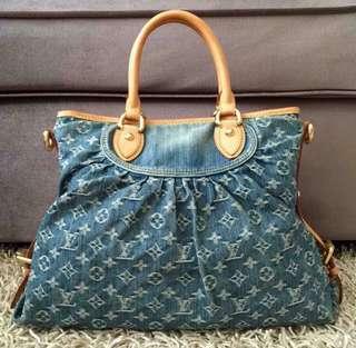 Lv/Louis Vuitton denim bag