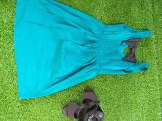 Dress turquis gelap
