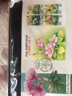 Singapore first day covers
