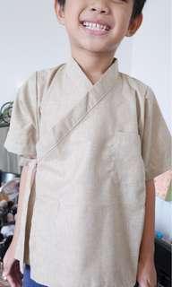 Boys kimono top, kids baju raya