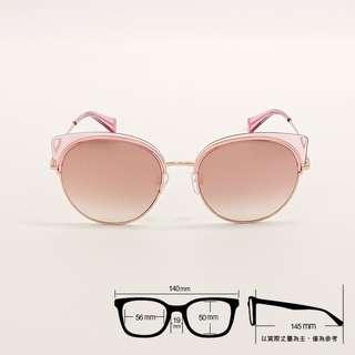 ⭐ 玩美貓眼 ⭐[檸檬眼鏡] Paul Hueman PHS-1116A-11 時尚墨鏡 玫瑰金屬圓框 小粉貓款 -1