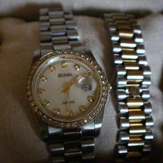 Bonia Watch Sapphire Crystal
