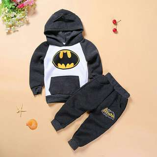 *FREE DELIVERY to WM only / Ready stock* Kids batman set each as shown in design/color. Free delivery is applied for this item.