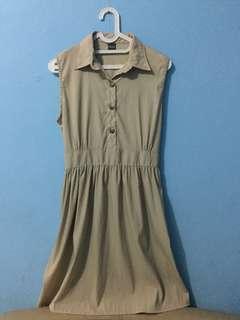Brown retro dress