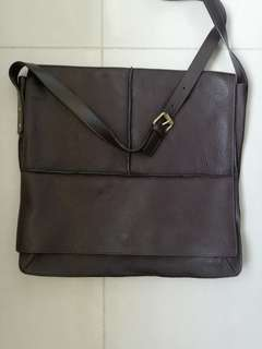 Burberry leather message bag