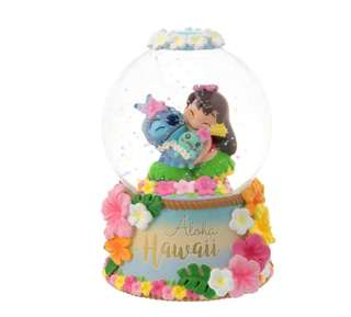 日本 Disney Store 直送 Stitch Day 系列史迪仔甘仔 Stitch,Scrump & Lilo 水晶球 Figure 擺設