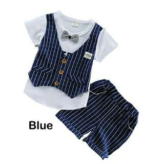 *FREE DELIVERY to WM only / Ready stock* Kids boy wear set each as shown in design/color.  Free delivery is applied for this item.
