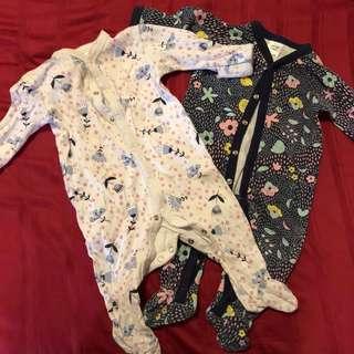 Baby Sleepsuits 3-6mo