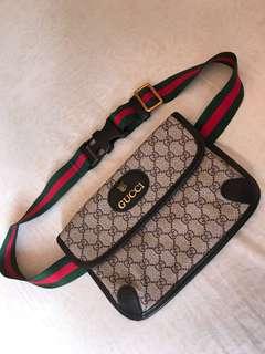 Gucci Neo Vintage belt bag black vinyl combo