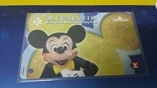 2005年版港鐵迪士尼線米奇老鼠全日通車票😁